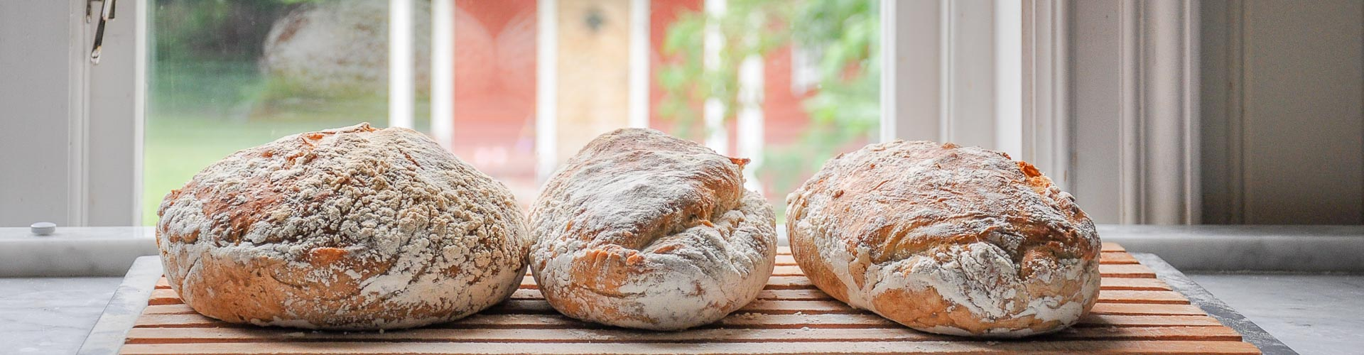 Hembakt bröd på Pensionat Solgården